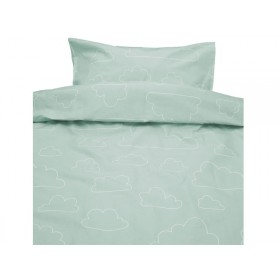 Färg&Form Bedding Moln ORGANIC soft green (100x130)