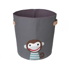 FRANCK & FISCHER storage bin MONKEY dark grey large