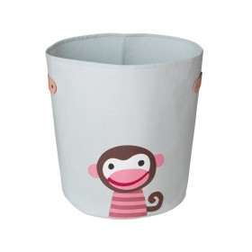 FRANCK & FISCHER storage bin MONKEY light grey large