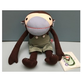 Franck & Fischer Doll Monkey Frederik GREEN BIB
