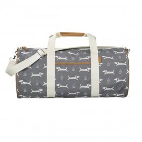 Fresk Weekender Bag Large DOGS grey