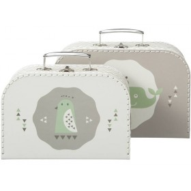 Fresk suitcase set whale grey