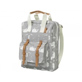 Fresk Kids Backpack WHALE grey