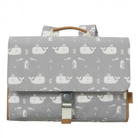Fresk Kids School bag WHALE grey