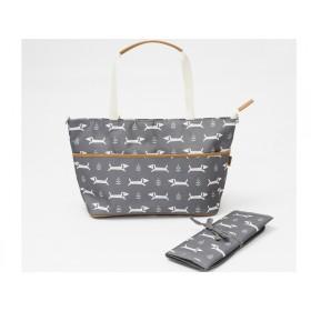 Fresk Nursing Bag DOGS grey