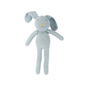 Global Affairs Crochet Animal Rabbit light blue