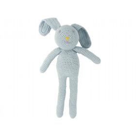 Global Affairs Crochet Animal Rabbit light blue