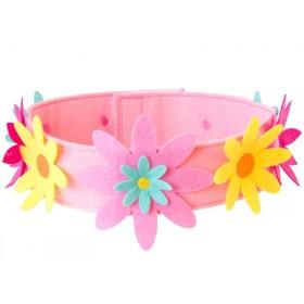 Global Affairs Felt Crown FLOWERS pink