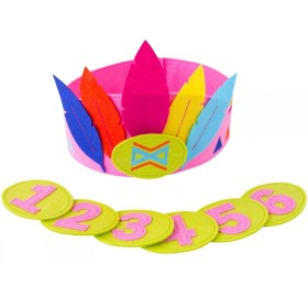 Global Affairs Birthday Crown FEATHERS pink