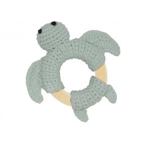 Global Affairs Crochet Ring Rattle TURTLE