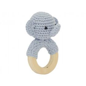 Global Affairs Crochet Ring Rattle ELEPHANT