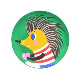 Helen Dardik melamine plate hedgehog