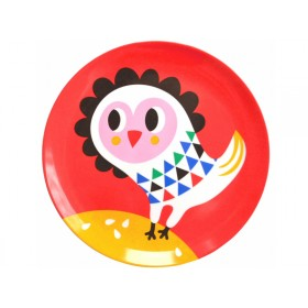 Helen Dardik melamine plate owl