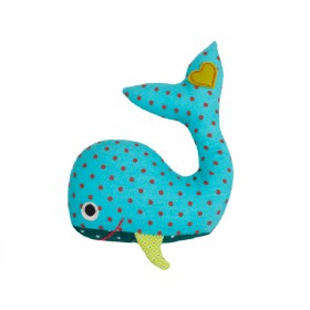 Hickups rattle whale blue