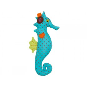 Hickups rattle seahorse blue