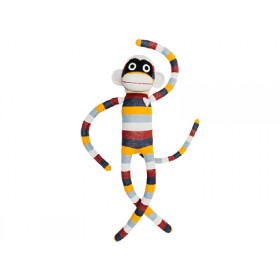 Hickups XXL sock monkey burgundy/grey/orange