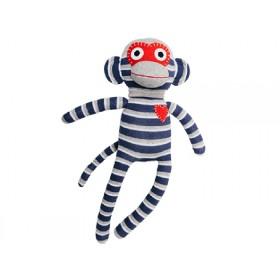 Hickups sock monkey blue/grey
