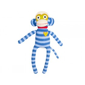 Hickups sock monkey blue / light blue
