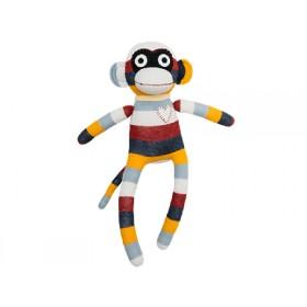 Hickups sock monkey burgundy/grey/orange
