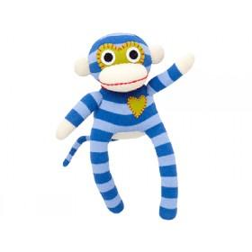 Hickups sock monkey mini blue