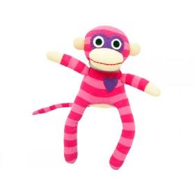 Hickups sock monkey mini pink
