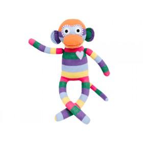 Hickups sock monkey rainbow