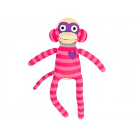 Hickups sock monkey pink / dark pink