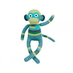 Hickups sock monkey turquoise