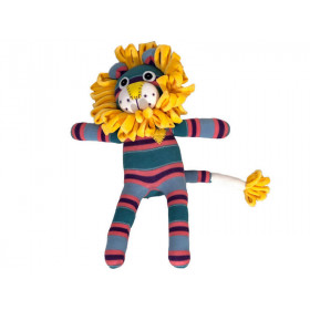 Hickups sock lion turquoise/coral