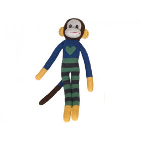 Hickups XXL knitted monkey blue/green