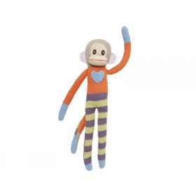 Hickups XXL knitted monkey orange blue