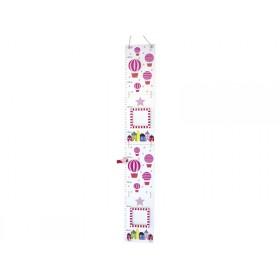 JaBaDaBaDo growth chart balloon pink