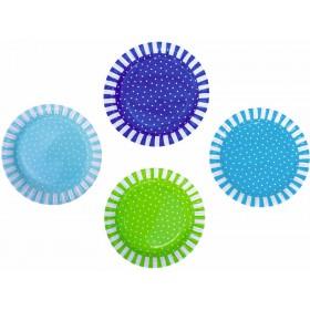 JaBaDaBaDo party plates blue