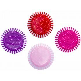 JaBaDaBaDo party plates pink