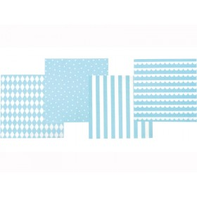 JaBaDaBaDo Party Napkins light blue and white