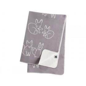 Kids Concept jacquard blanket Edvin grey