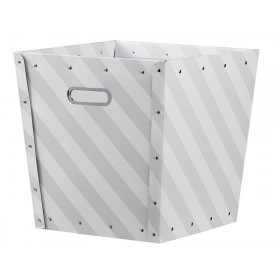 Kids Concept storage box striped grey and white