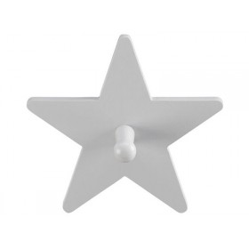Kids Concept clothes hook star grey