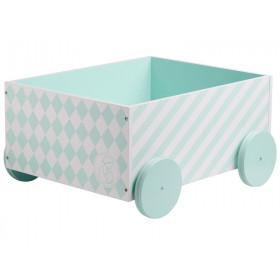 Kids Concept box car harlekin mint