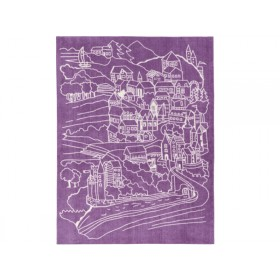 Kids Concept kids carpet castle pink purple