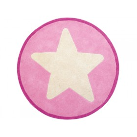 Kids Concept kids carpet big star pink
