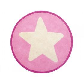 Kids Concept kids carpet big star pink