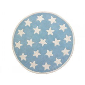 Kids Concept kids carpet stars blue