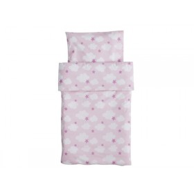 Kids Concept Baby bedding with clouds and stars pink