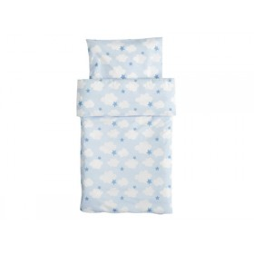 Kids Concept Baby bedding with clouds and stars blue