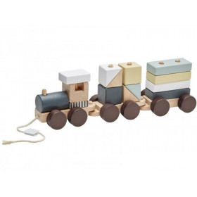Kids Concept Wooden Stacking Train EDVIN