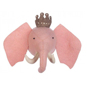 KidsDepot Felt Animal Head ELEPHANT PRINCESS