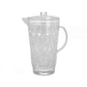 RICE jug in swirly embossed clear acrylic