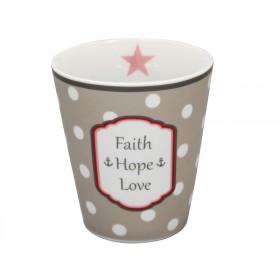 Krasilnikoff Happy Mug Faith Hope Love