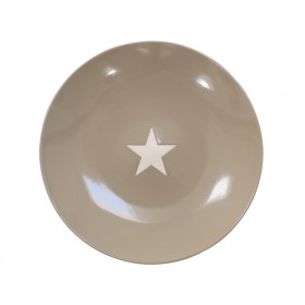 Krasilnikoff dinner plate Brightest Star taupe